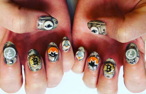 Perry's crypto nails.